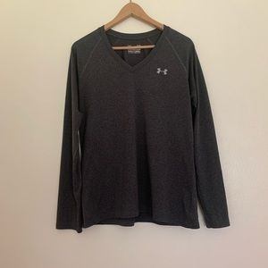 Under Armour | Long Sleeve V-Neck | Gray | Large